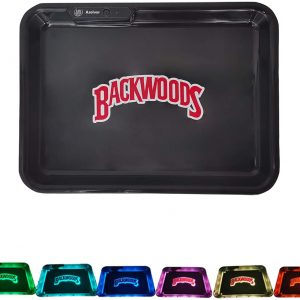 Glow Tray x BackwoodsLED Rolling Tray by Glow Tray Rechargeable
