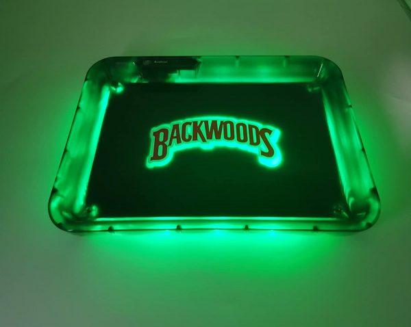 Glow Tray x BackwoodsLED Rolling Tray Green