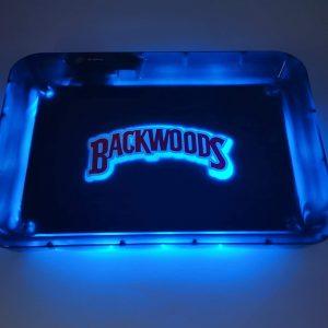 Glow Tray x BackwoodsLED Rolling Tray Blue