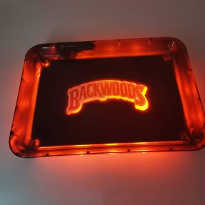 Glow Tray x BackwoodsLED Rolling Tray Red