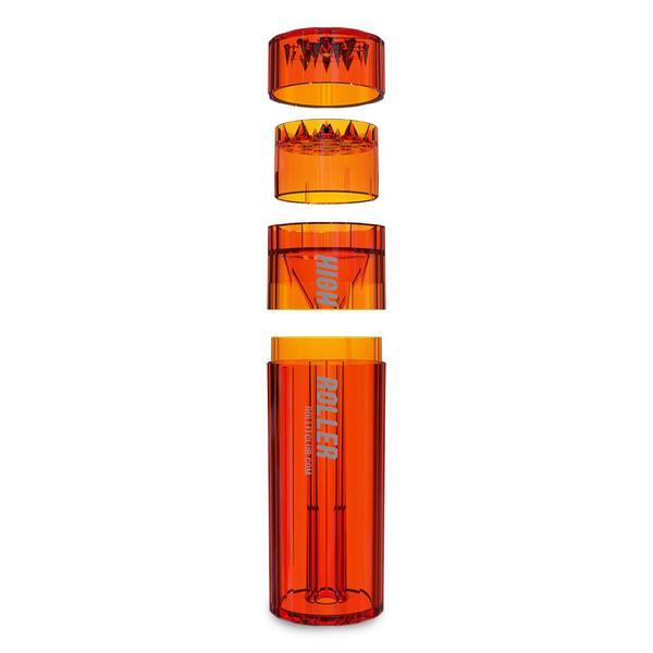 HIGHROLLER | Transparent Herb & Spice Grinder | Grind & Pack in 30 secs! (Red)