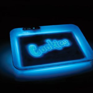 GlowTray x Cookies SF LED Rolling Glow Light Up Tray Rechargeable Blue