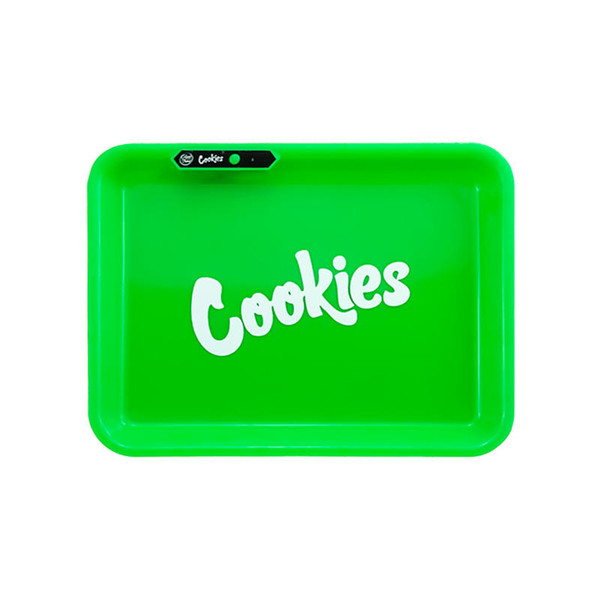 GlowTray x Cookies SF LED Rolling Glow Light Up Tray Rechargeable Green