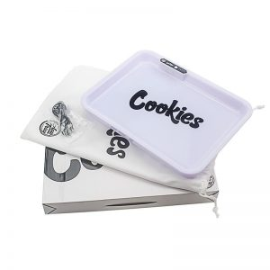 GlowTray x Cookies SF LED Rolling Glow Light Up Tray Rechargeable White