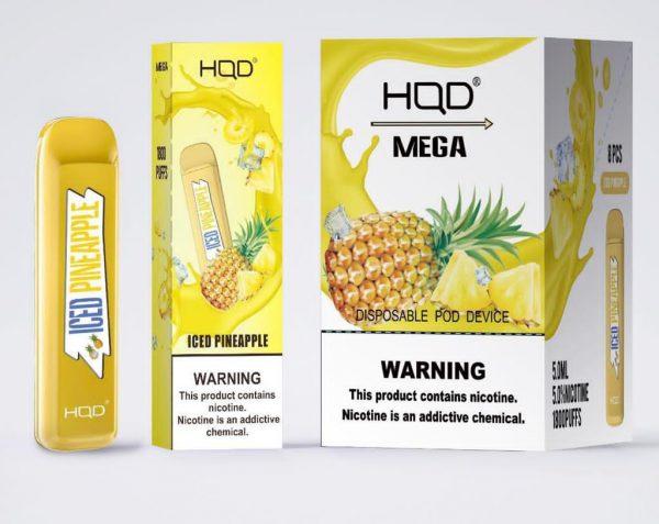HQD MEGA 1800 Puffs Iced Pineapple